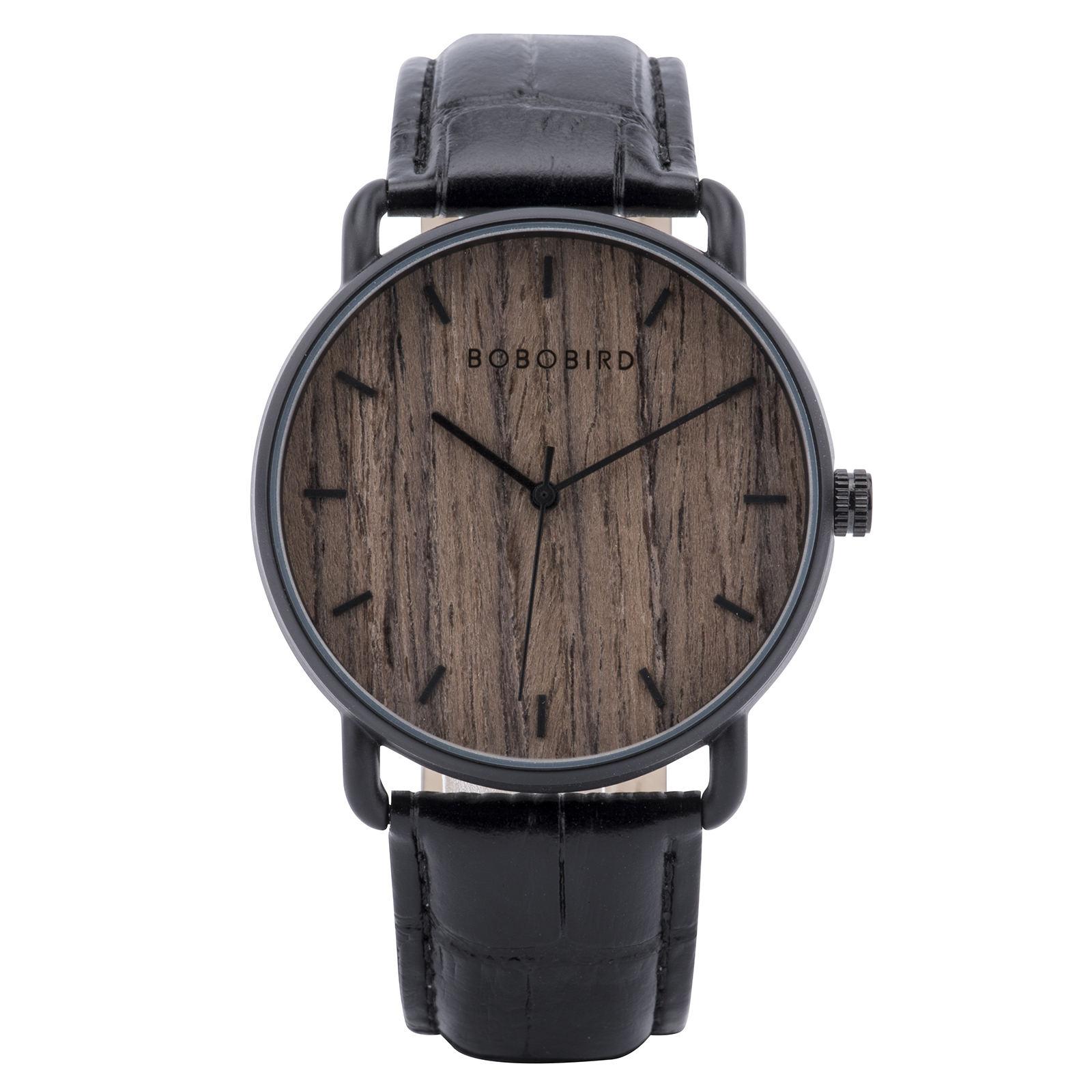 lassic Wood Watch Ebony wood Black GT058-1A