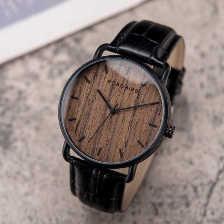 Classic Wood Watch Ebony wood Black GT058-1A