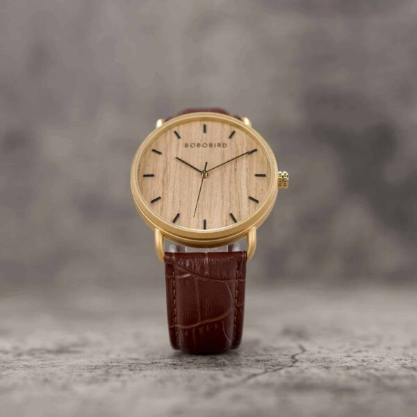 Classic Wood Watch Maple  Gold GT058-4A