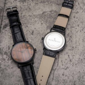 Classic Wooden Watch Rosewood Black GT058-2A