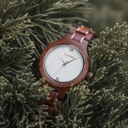 Wooden Watches for Women Natural Rosewood Glod - Sky