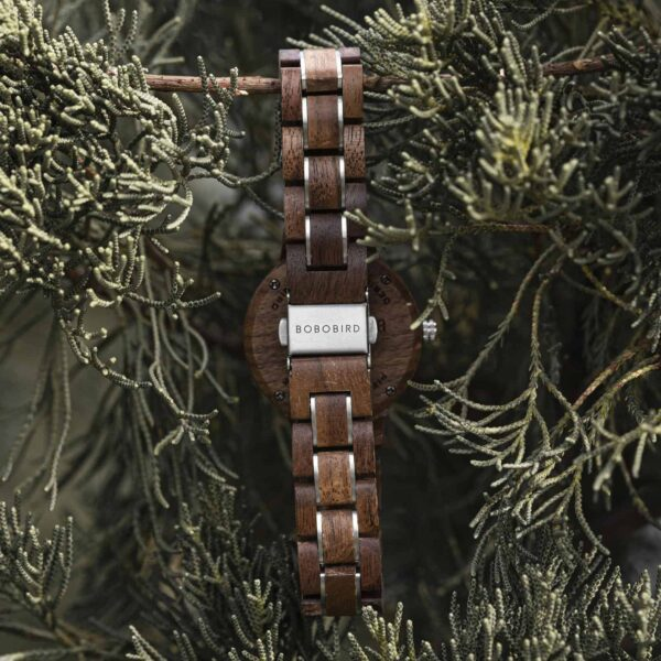 Wooden Watches for Women Natural Walnut Wood Black - Sky